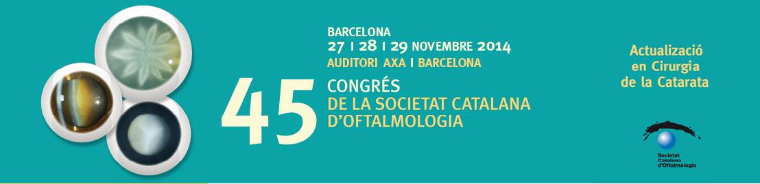 Els oftalmòlegs de l'ICR al 45 Congrés de la Societat Catalana d'Oftalmologia