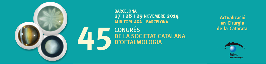 Los oftalmólogos del ICR al 45 Congreso de la Societat Catalana d'Oftalmologia