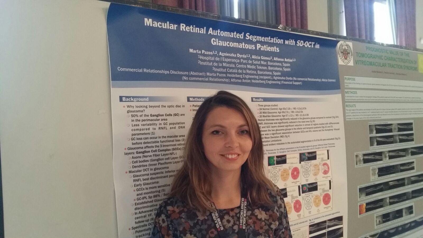 Постер, представленный Врачём А. Dyrda получил первое место в наиболее важном международном конгрессе по ОКT ( Оптическая когерентная томография )