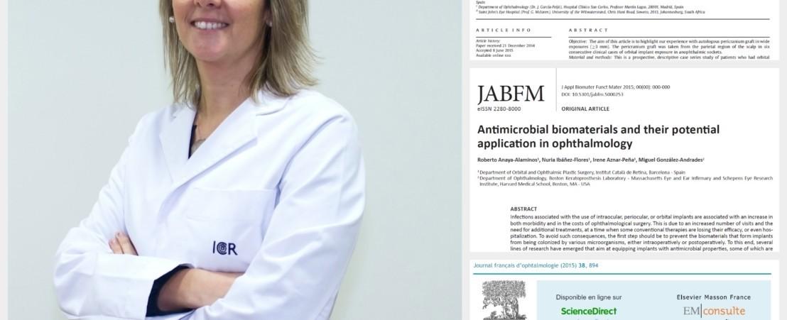 El Departamento de Órbita y Oculoplástia del ICR, con la Dra. Nuria Ibáñez al frente, ha publicado 3 artículos en revistas Internacionales durante el 2015