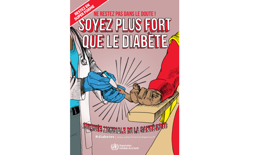 Journée Mondiale de la Santé 2016 : Soyez plus forts que le diabète et les problèmes de cécité qu'il cause