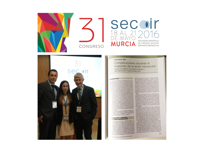 Members of ICR Refractive Surgery Department take part on the SECOIR's 31st Congress and annual monograph