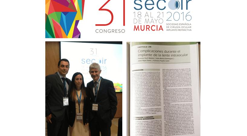 Les membres de l'équipe de réfractive de l'ICR participent au 31ème Congrès et dans la monographie annuelle de la SECOIR