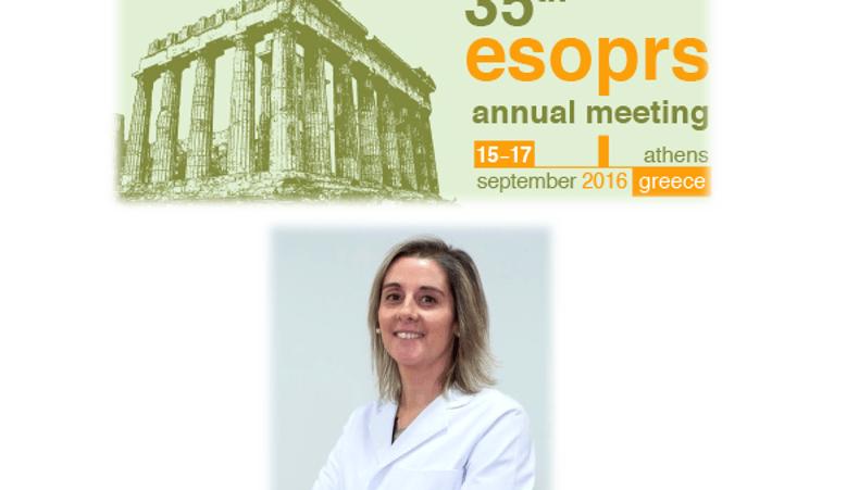 La Dra. Ibáñez participa en el congreso de la European Society of Ophthalmic Plastic and Reconstructive Surgery (ESOPRS) en Atenas