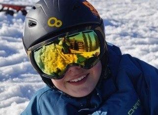 protegerse los ojos en la nieve