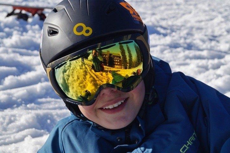 Protegir-se els ulls a la neu