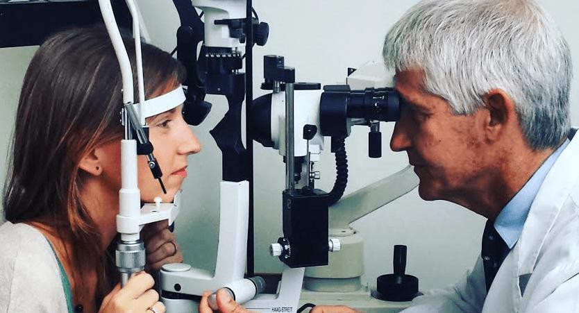 العدسات البلورية داخل العين