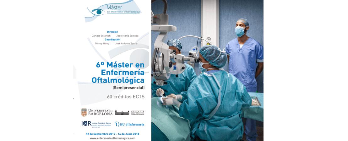 Nueva edición del Máster en enfermería oftalmológica del ICR con la UB