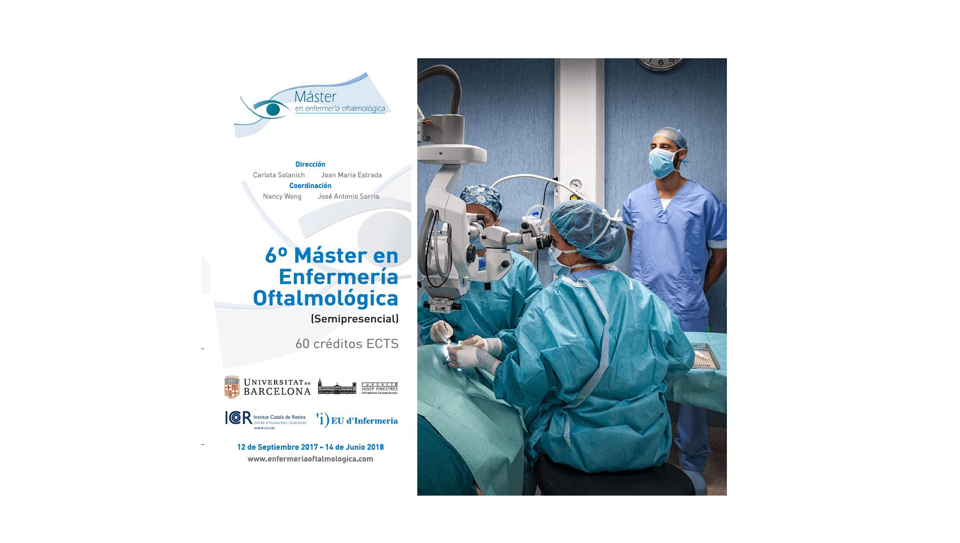 Nova edició del Màster en infermeria oftalmològica de l'ICR amb la UB