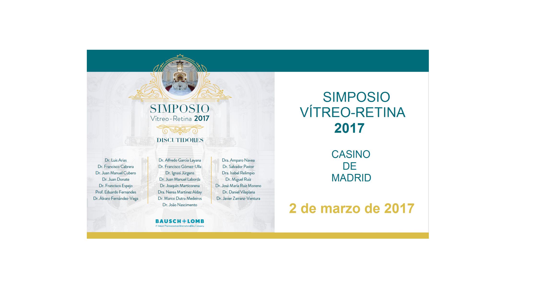 El Dr. Jürgens participarà al Simposi de Vitreo-Retina 2017