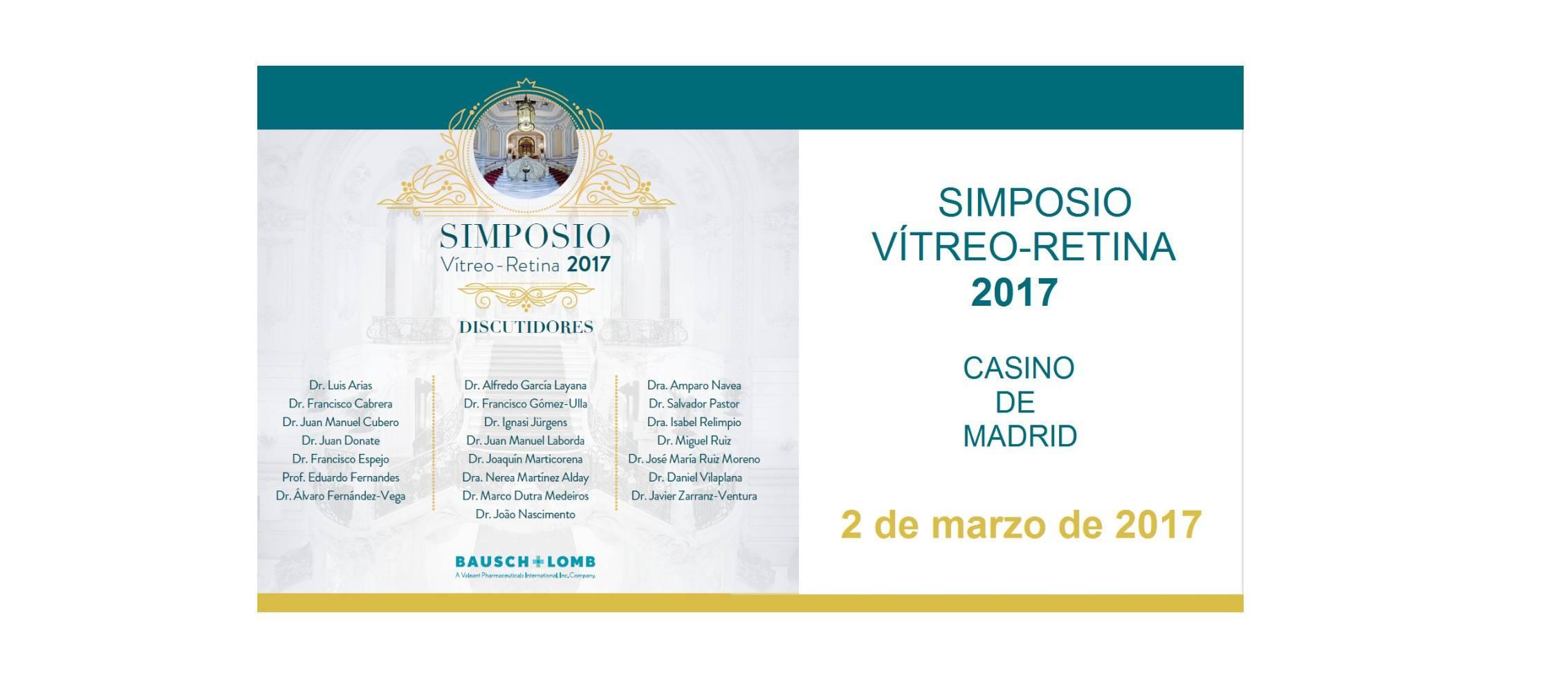 El Dr. Jürgens, participará en el Simposio de Vítreo-Retina 2017