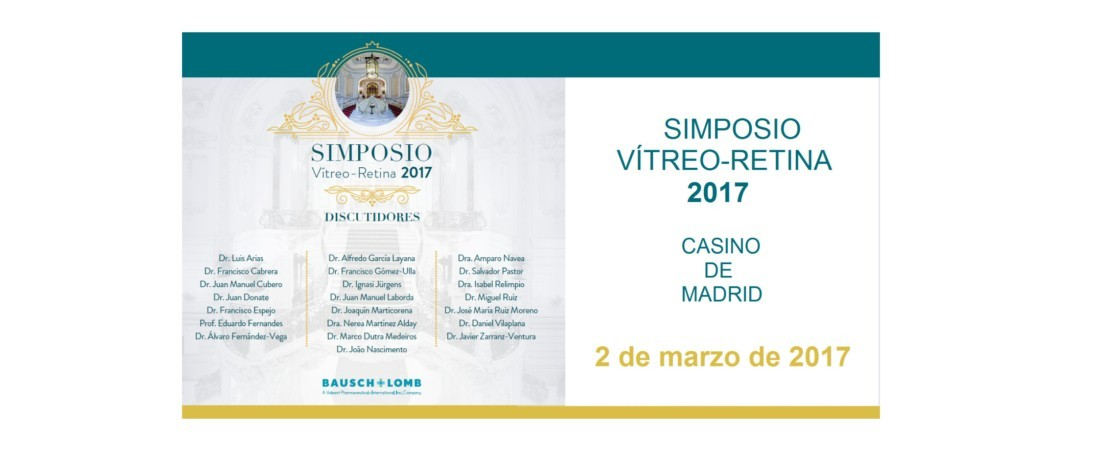Le Dr. Jürgens participera au Symposium de Vitréo-Rétine 2017