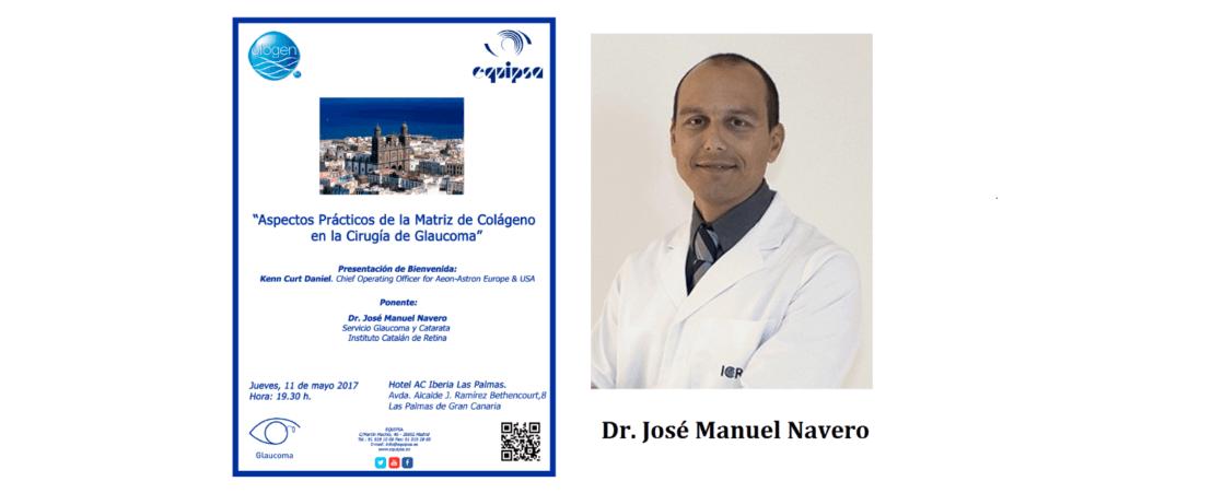 Le Dr. Navero participe au débat tenu aux Îles Canaries sur des aspects pratiques de la matrice de collagène