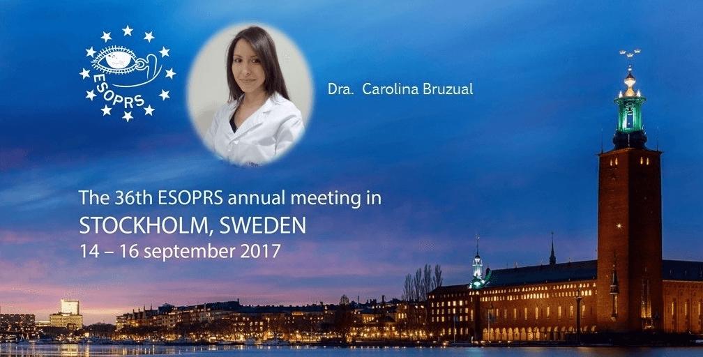 La Dra. Bruzual aborda el injerto de pericráneo en el Congreso Europeo de Oculoplastia (ESOPRS 2017)