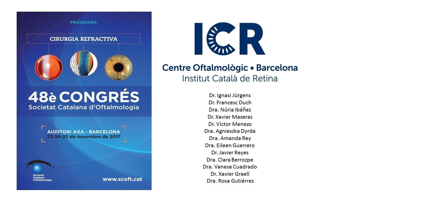 Participación destacada de ICR en el 48º Congreso de la Sociedad Catalana de Oftalmología