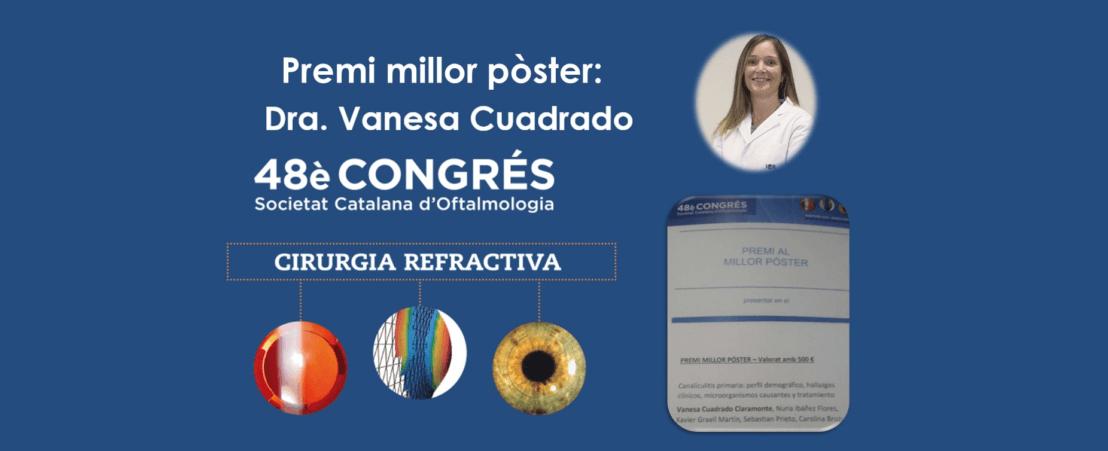 La Dra. Cuadrado rep el premi al millor pòster al congrés de la Societat Catalana d'Oftalmologia