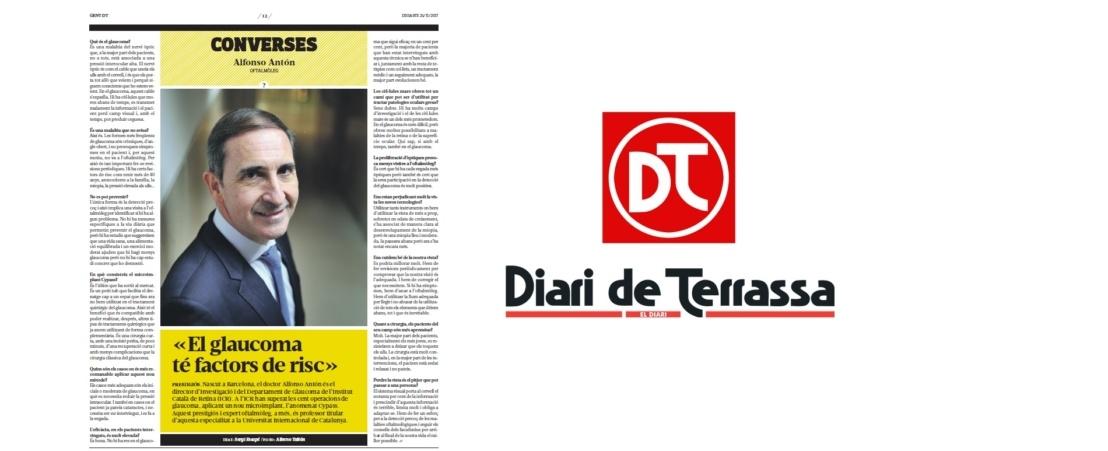 Le Journal de Terrassa publie un entretien avec le Dr. Antón sur le glaucome