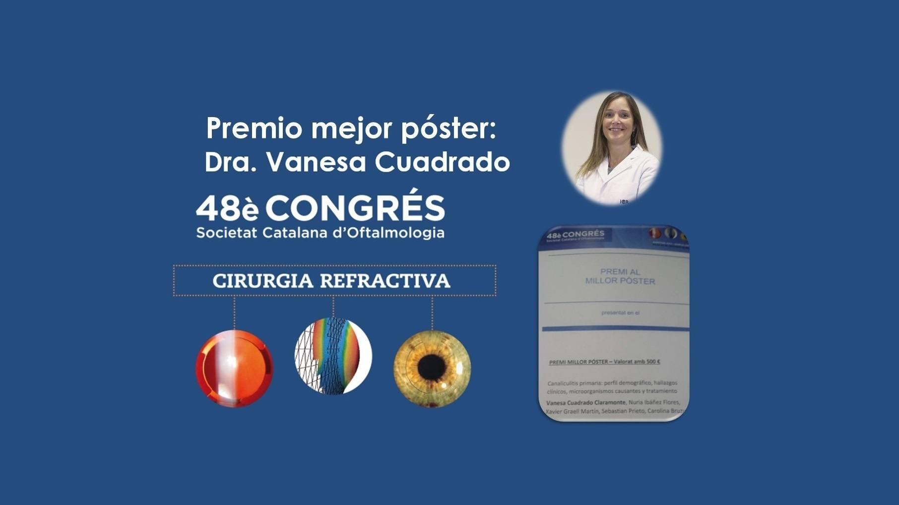La Dra. Cuadrado recibe el premio al mejor póster en el congreso de la Sociedad Catalana de Oftalmología