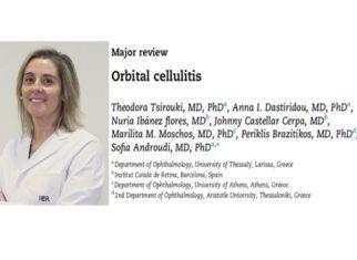 Врач Nuria Ibañez публикует статью о орбитальном целлюлите в престижном журнале «Survey of Ophthalmology»