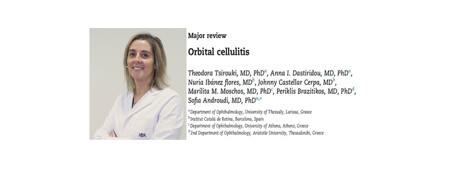 Dr. Ibáñez has published an article about orbital cellulitis in the prestigious journal Survey of Ophthalmology