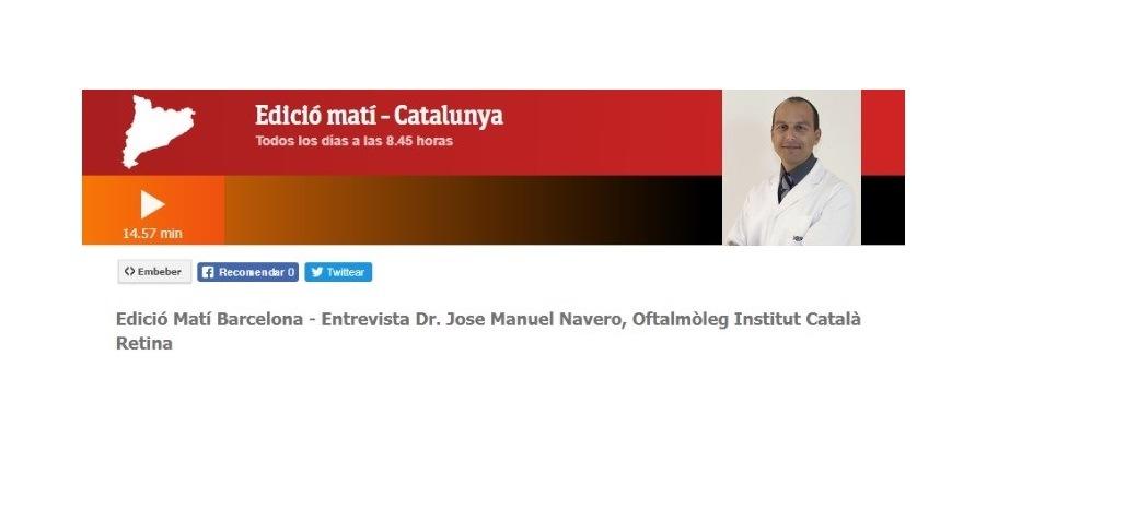 Entrevista al Dr. Navero sobre el glaucoma en RTVE