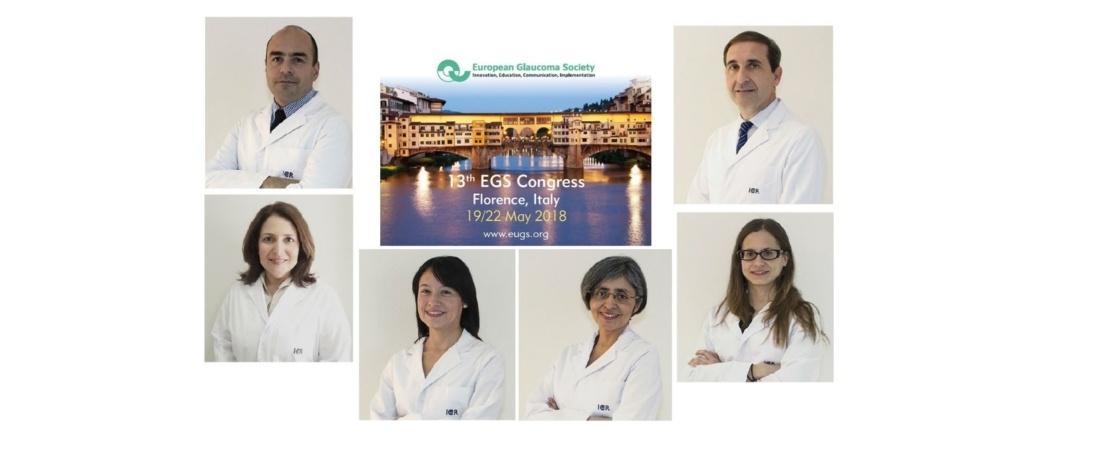 Miembros del Departamento de Glaucoma del ICR en el 13º Congreso de la European Glaucoma Society