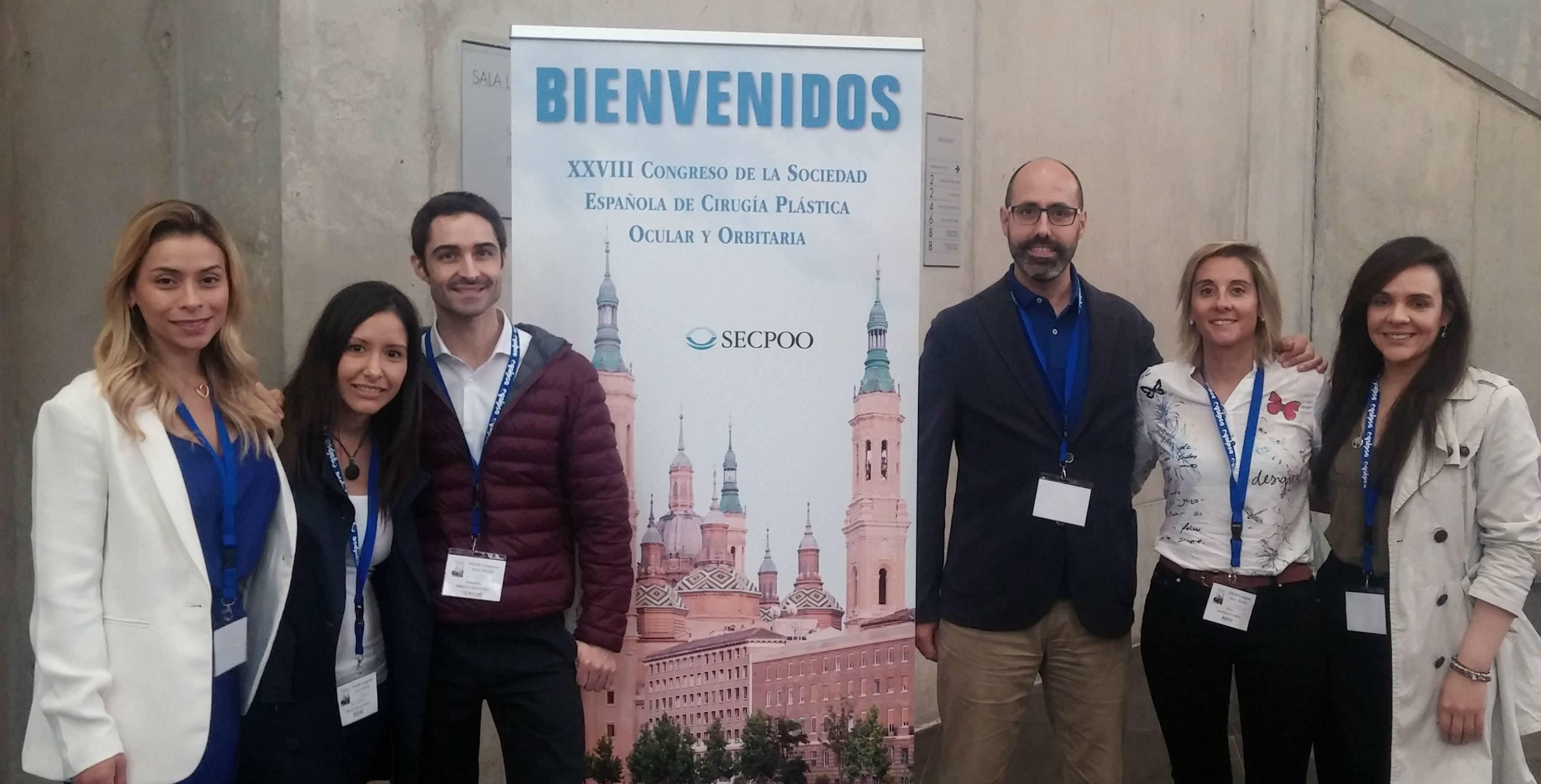 Oftalmòlegs de l'ICR al XXVIII Congrés de la Societat Espanyola de Cirurgia Plàstica Ocular i Orbitària