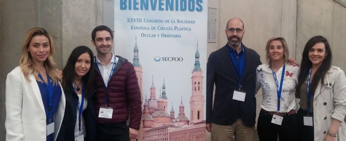 Ophtalmologistes de l'ICR au XXVIII Congrès de la Société Espagnole de Chirurgie Plastique Oculaire et Orbitaire