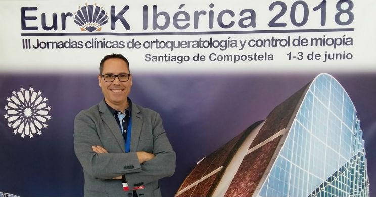L'optométriste Joan Pérez et l'Unité de Myopie de l'ICR à la III Conférence Eurok Ibérica 2018
