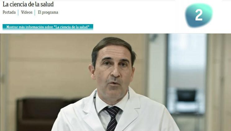Le Dr. Antón explique ce qu'est le glaucome dans l'émission de télévision La Ciencia de la Salud