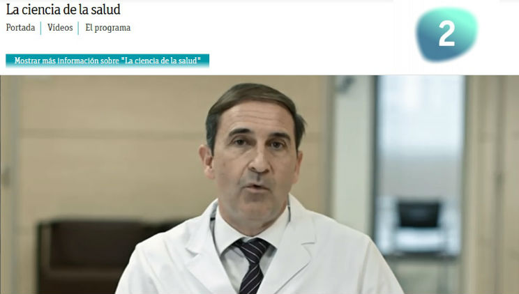Dr. Antón explains what glaucoma is on Spanish public TV programme La Ciencia de la Salud