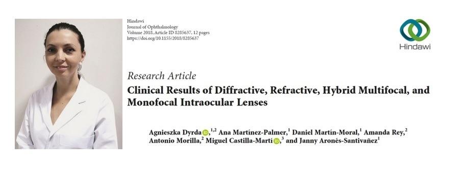 La Dra. Dyrda publica un artículo sobre lentes intraoculares tras una cirugía de cataratas en el Journal of Ophthalmology