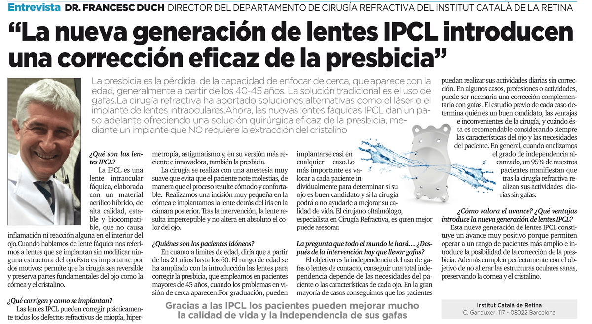 3950a20c6f El Dr. Duch, entrevistado en La Razón sobre la nueva generación de ...