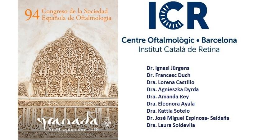 Oftalmòlegs de l'ICR participen al 94 Congrés de la Societat Espanyola d'Oftalmologia