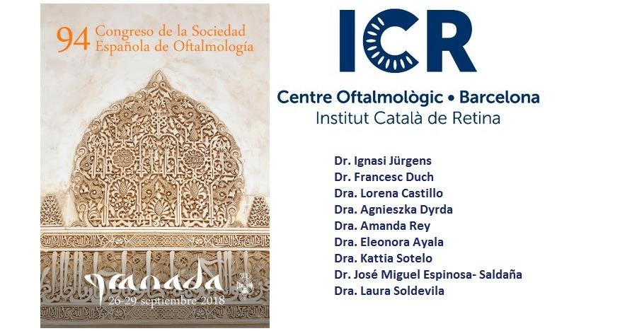 Oftalmòlegs de l'ICR participen al 94è Congrés de la Societat Espanyola d'Oftalmologia