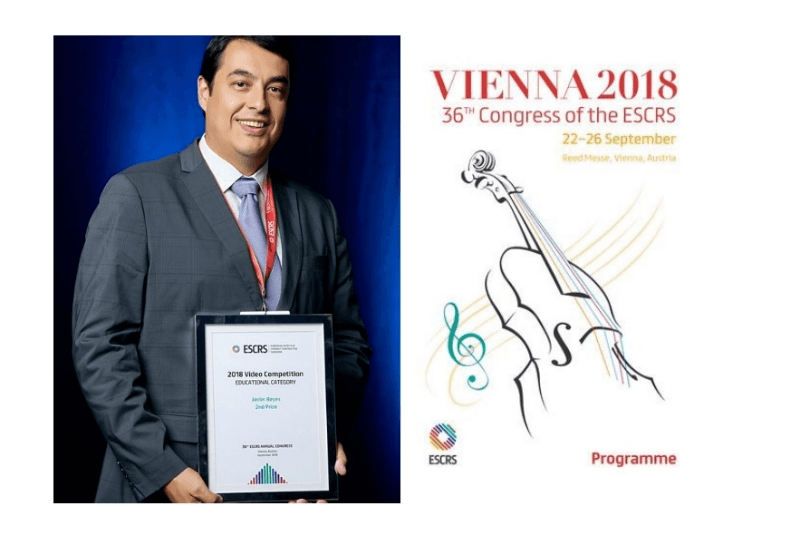 Dr. Reyes and the refractive surgery team awarded at the Congress of the European Society of Cataract and Refractive Surgeons