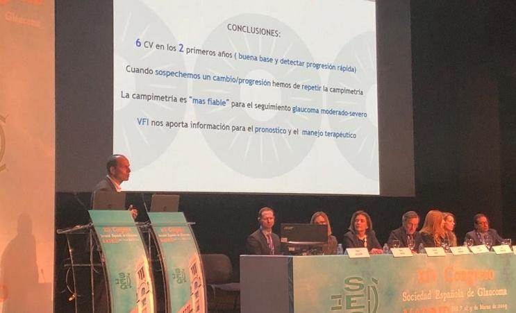 Le Dr. Navero participe comme intervenant au XIVe Congrès de la Société Espagnole du Glaucome