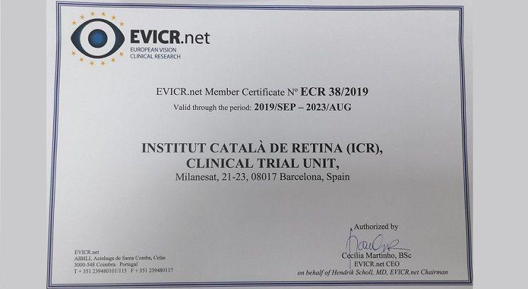 El Dpto. de Investigación de ICR es recertificado como Centro Clínico de Excelencia por EVICR.net