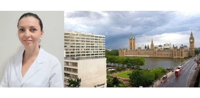 La Dr. Dyrda est invitée un mois au prestigieux Hospital St. Thomas de Londres