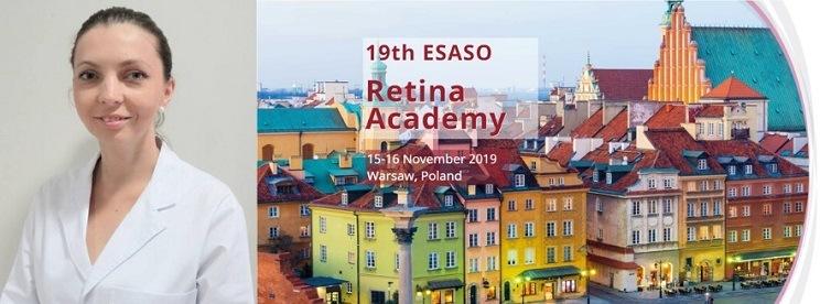 La Dr. Agnieszka Dyrda remporte le 2e prix du 19e Congrès ESASO Retina Academy