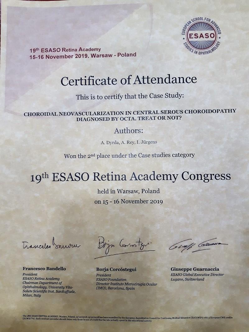 Certificado ESASO