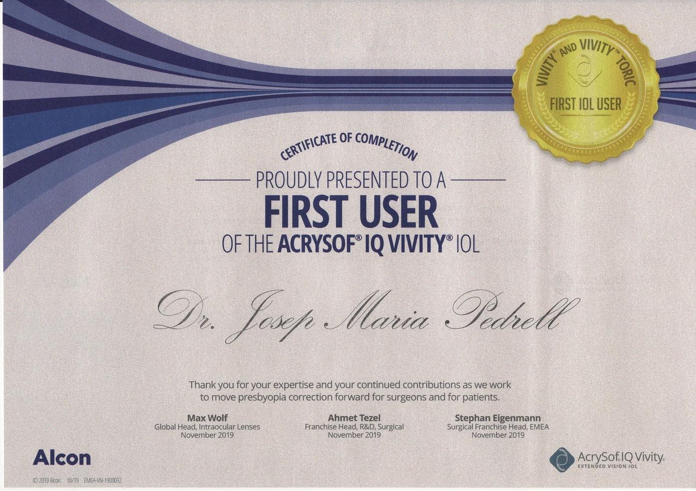 certificado Vivity