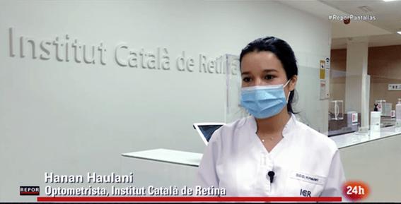 Hanan Haulani, optometrista de ICR, es entrevistada en RTVE sobre pantallas y salud visual.