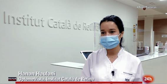 Hanan Haulani, optometrista d'ICR, és entrevistada a RTVE sobre pantalles i salut visual.