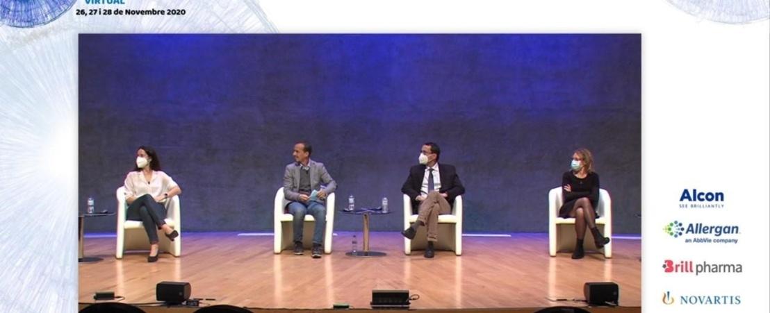 Diferentes expertos, entre ellos el Dr. Maseras, debatieron sobre casos clínicos de retina.