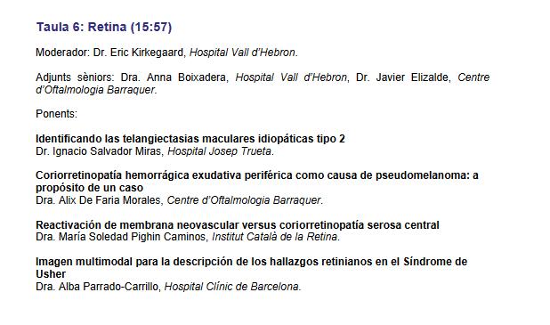 """La Dra. Pighin presentará """"Reactivación de la membrana neovascular versus coriorretinopatía serosa central"""""""